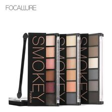 FOCALLURE 6 Colors Eyeshadow Palette Glamorous Smokey Eye Shadow Shimmer Colors