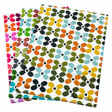 3 x Flower A4 Paper Notebooks Hardback 160 Page Lined Writing Office Books Pads