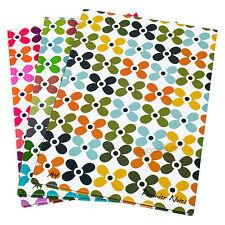 3 x a4 Fiore Carta Notebook Rilegato 160 pagine foderate scrittura Ufficio libri PADS