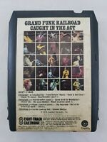 Vintage Grand Funk Railroad Caught In The Act 8-Track Tape Cartridge 1975