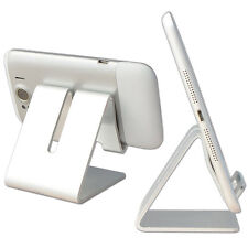 iPad iPhone Mobile Phone Stand Holder Tablet Computer Aluminum Stander Silver#