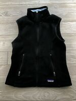 Patagonia Synchilla Black Fleece Vest Full Zip Women's Size Small S
