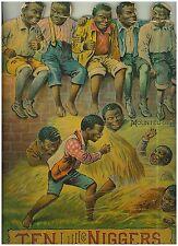 "1894 Child Book ""Ten Little Niggers"" Die Cut Great Example"