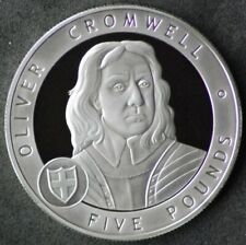 2007 Guernsey Great Britons silver proof £5 coin - Oliver Cromwell