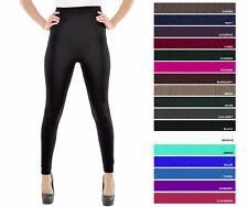 Pack ONE SIZE Plain Thick Footless Cable Knit Warm Winter Pant Fleece Legging