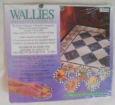 Wallies Wet & Stick Removable Vinyl Wallpaper Cutouts -Straw Hat on Checks 12924