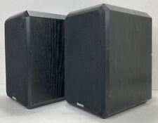 Pair Of Boston Acoustics HD5 Black Bookshelf Speakers Model HD5, USA 8 ohms