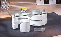 Tavolino salotto tavolo moderno bianco lucido soggiorno
