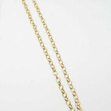 16 Inch 14k Gold Filled 3.3x2.8mm Rolo Chain Necklace Assembled by Hand