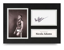 Nicola Adams Signed A4 Photo Display Boxing Autograph Memorabilia COA