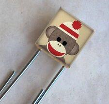 Sockmonkey bookmark Sock Monkey Red Hat Scrabble Big Paperclip School Supplies