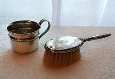 Sterling Silver Child's Hairbrush and Cup Webster Company Reed & Barton