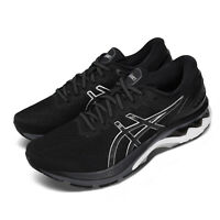 Asics Gel-Kayano 27 2E Wide Black Silver White Men Running Shoes 1011A835-001