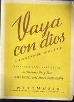 """RUSSEL, JAMES, PEPPER :  """" Vaya con dios """" ~ langsamer Walzer"""