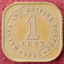 MALESIA e BRITISH BORNEO 1 CENT 1961 (D3004)