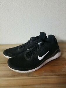 Nike Free RN Run 2018 Running Shoe Black White Womens Sz 6.5 942837 001
