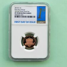 2019 S 1Cent  FIRST DAY OF ISSUE NGC PF 70 RD Ultra Cameo, From 10-Coin PF Set