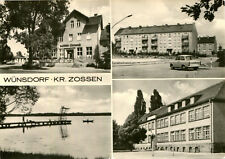 AK Wünsdorf 1976  Lindeneck Wohnblöcke Freibad Schule ? / Zossen Teupitz Baruth