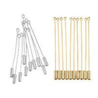 20pcs Long Silver Gold Plated Collar Jewelry Stick Pins Clutch Lapels Brooch