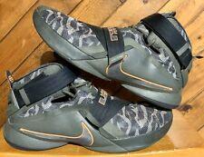Nike Lebron Soldier IX PRM Promo Sample Cargo Khaki Black Sequoia Mens Size 17