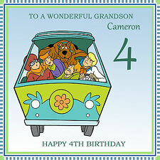 Scooby Doo Personalised Handmade Birthday Card any text /age