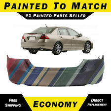 NEW Painted to Match Rear Bumper Cover for 2006 2007 Honda Accord Sedan & Hybrid