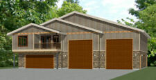 60x50 Apartment with 2-Car 2-RV Garage - PDF FloorPlan - 1,703 sqft - Model 1D