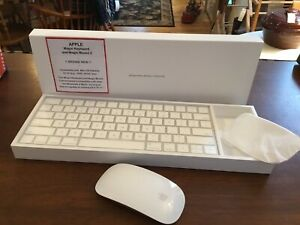 Apple Magic Keyboard 2 and Magic Mouse 2 White Set Combo