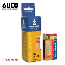 UCO Stormproof Waterproof Safety Matches 4p 160pcs X12 Boxes = 1920pcs