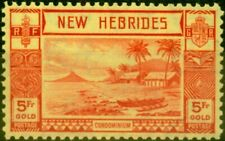More details for new hebrides 1938 5f red-yellow sg62 fine very lightly mtd mint