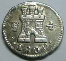 1800 POTOSI 1/4 REAL CHARLES IV BOLIVIA BEAUTIFUL SPAIN COLONIAL SILVER SPANISH