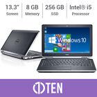 """DELL Latitude E6320 E6420 13"""" Laptop i5 3.30 GHz 8GB RAM 256GB SSD DVD Win 10"""