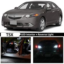 16x White Interior + Reverse LED Lights Package Kit for 2009-2014 Acura TSX