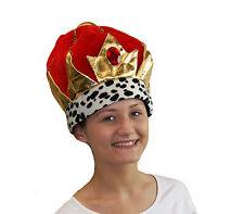 World Book Day-Christmas-Panto-Prince-Cinderella-Baron VELVET STYLE KING HAT