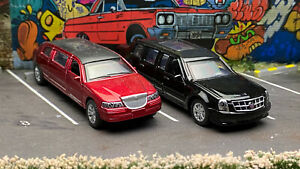 1:64 Cadillac The Beast Presidential & Lincoln Limo Loose Greenlight