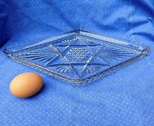 """Sirviendo Placa de Vidrio Vintage O Bandeja De Tocador forma de diamante 14.5"""" X 8.5"""""""