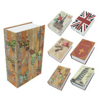 Secret Dictionary Book Safe Hidden Security Cash Money Storage Lock Box Case