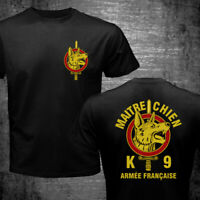 France Maitre Chien French Army War Dog k9 Special Forces Logo Military T-shirt