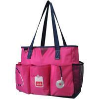 NGIL Scrub Life Doctor Nurse Hot Pink Lg Organizer Tote Caddy Bag Free Ship! NEW