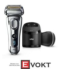 Braun Series 9 9296cc Electric Shaver Clean & Charge Wet & Dry Leather Case