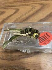 Beautiful vintage hand tied deer haired weedless Leopard frog flyfishing