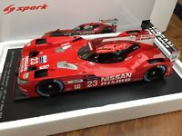 SPARK 18S191 Nissan GT-R LM LMP1 model race car Pla Chilton Le Mans 2015 1:18th