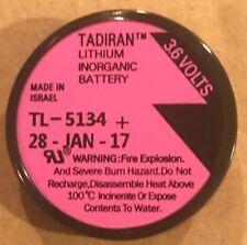 Brand New Tadiran TL-5134 3.6V 1000mAh 1/10D Lithium Battery TL-5134/P, MFG:2017
