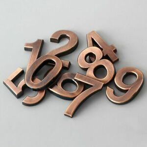 House 3D Number Stickers 0-9 Modern Hotel Apartment Door Plastic Name Plate Home