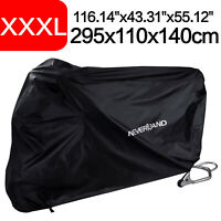 Waterproof Motorcycle Bike Cover Outdoor UV Protector Rain Dust Breathable Black