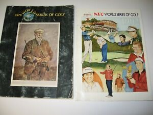 1978 & 1992 NEC World Series of Golf Tourn. Programs- Akron, OH. Firestone C.C.