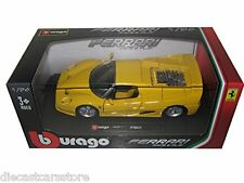 Bburago FERRARI F50 YELLOW 1/24 Diecast cars NEW IN BOX 18-26010YL