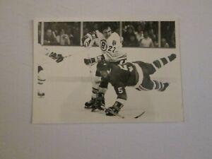 NHL 1970s Original Photo Boston Bruins Brad Park checking Denis Potvin