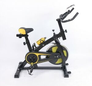 Yellow Exercise Bike Home Gym Bicycle Cycling Cardio Fitness Training Indoor