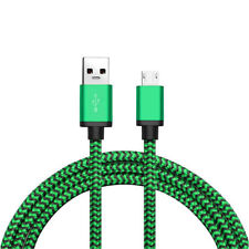 Green 3 FT Micro USB Data Sync Charger Charging Cable Cord for Android Samsung